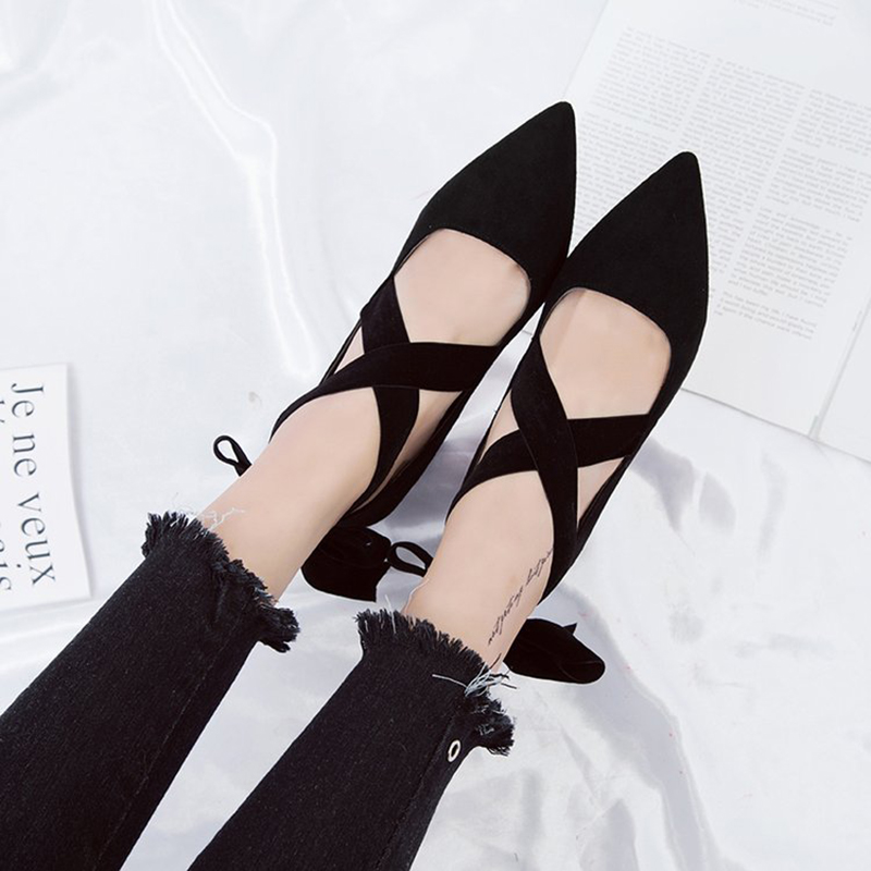 71c070edd5ab velvet bow knot pumps cross tied 7.5cm thick square heel shoes wedding shoes  women cozy elegance party dress shoes -in Women s Pumps from Shoes on ...