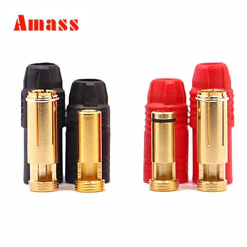 5sets Amass AS150 Connector plugs Anti-Spark Gold Bullet 7mm Connector Male Female Bullet Connectors Plugs for RC battery 20%off m12 aviation plug 8pins stragiht female or male plugs sensor connector socket connectors