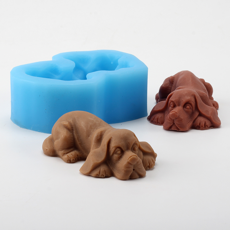 Golden Retriever Silicone Soap Mold Handmade Chocolate Candy Mould Craft Resin Clay Decorating Tool