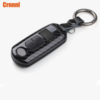 ABS Carbon fiber protection of the car key shell decoration shell car accessorie For Mazda 3 6 CX 3 CX 4 CX 5 CX 7 2012 present