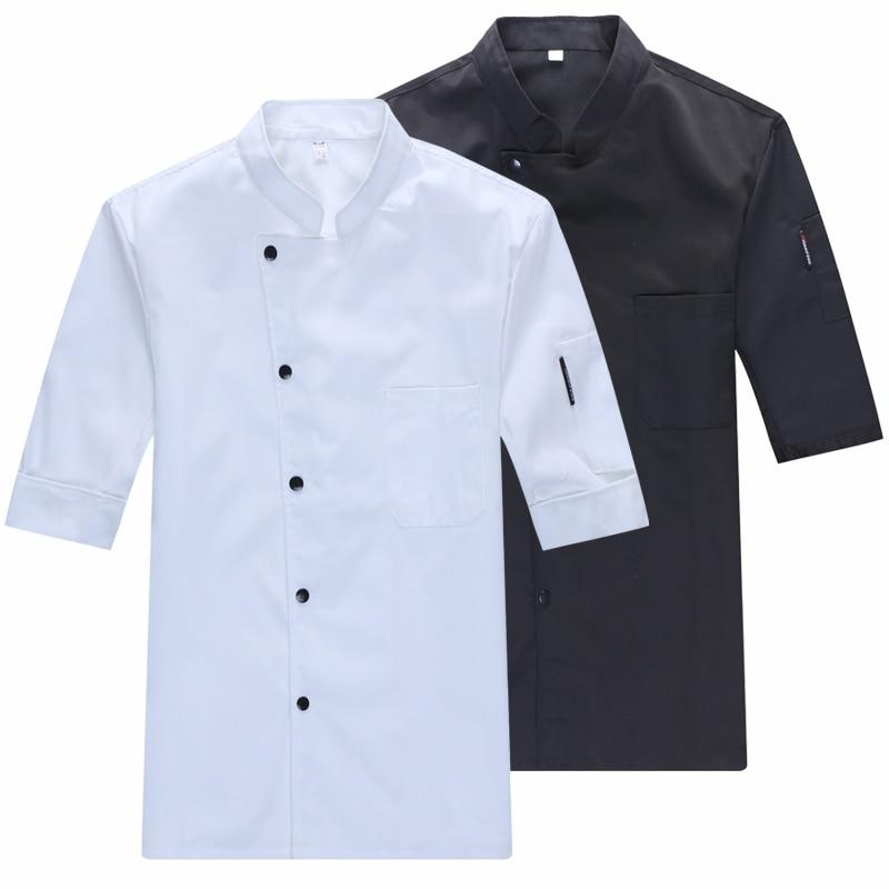 New Women Men Professional Three Quarter Sleeve Black