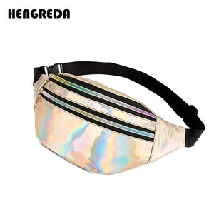 Bag Purse Bum-Bag Fanny-Pack Waist-Bags Laser Shining-Belt Holographic Metallic Travel