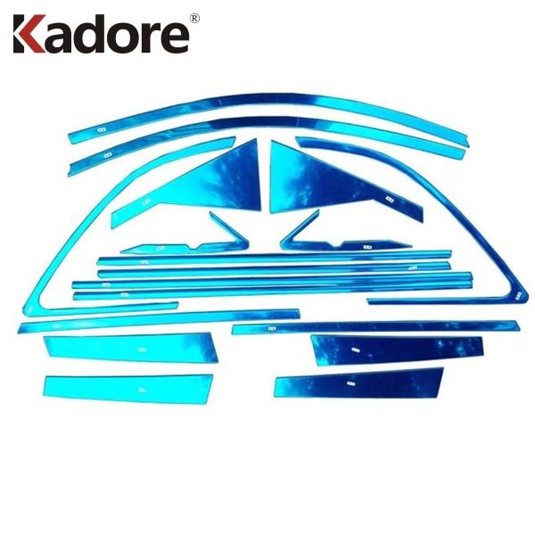 For Kia Sorento 2010 2011 2012 Stainless Steel Car Window Pillars Molding Trim Window Frame Protector Cover Stickers