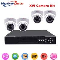 Heanworld 1080P Full HD 4CH CCTV System Kit Indoor AHD Camera Video Security Dome Network IP Camera Surveillance DVR kit