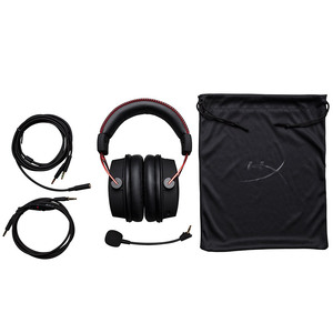 Image 4 - Kingston E sports Headphones With a microphone Black Gold Limited Edition HyperX Cloud Alpha Gaming Headset For PC PS4 Xbox