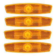 4 Pcs Yellow Mountain Bike Spokes Reflective Strips Bicycle Reflectors Bicycle Warning Lights Wheel Lights Spoke Lights cheap plastic 60 - 150mm Safety Reflectors Reflectors Light