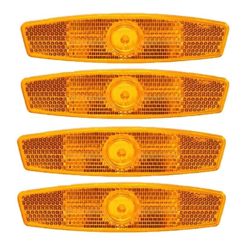 4 шт. желтые спицы для горного велосипеда светоотражающие полосы отражатели для велосипеда велосипедные сигнальные огни колесные огни спицы Велосипедная спица      АлиЭкспресс