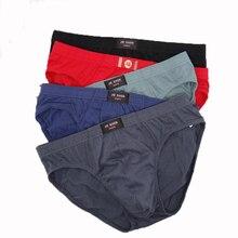 5 peças/set 100% algodão briefs masculinos quentes briefs confortável respirável estiramento roupa interior masculina frete grátis