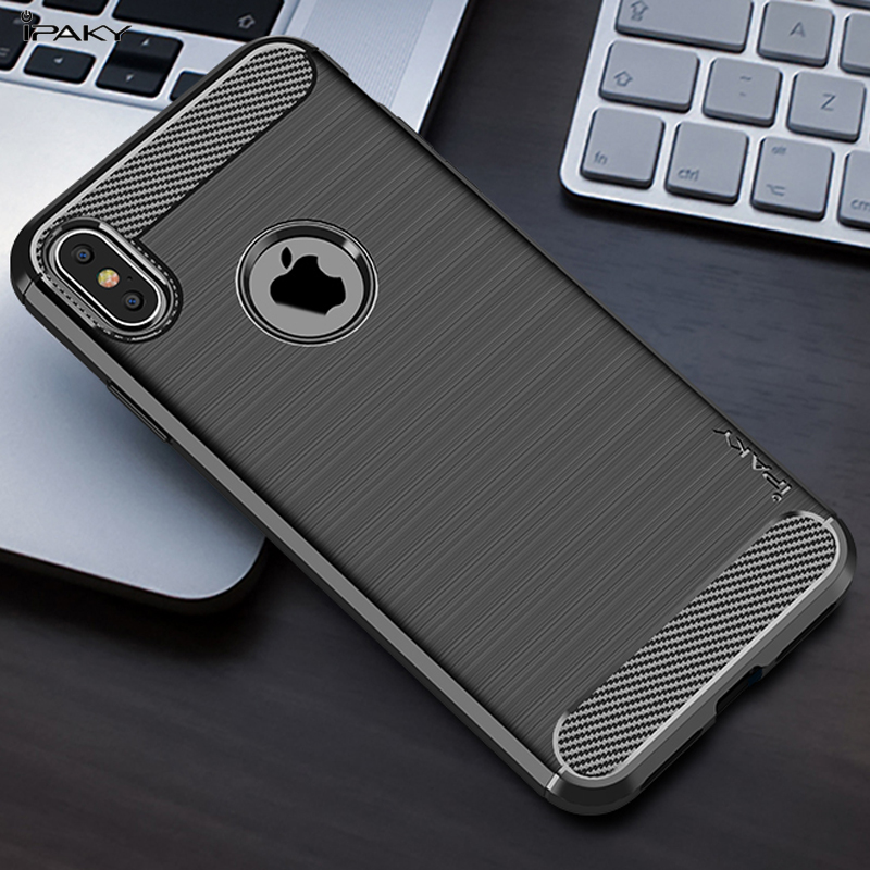 promo code 8f293 2b3dd US $9.97  IPAKY for iPhone Xs XR Xs Max Case Carbon Fiber Texture Brushed  TPU Phone Case for iPhone XS Max / iPhone XR / Xs Phone Case-in Fitted  Cases ...