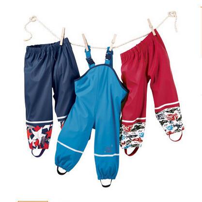 2016 das Crianças Roupas de frio do vento e à prova d' água meninas calças crianças macacão calças crianças Calças meninos calças de algodão pu
