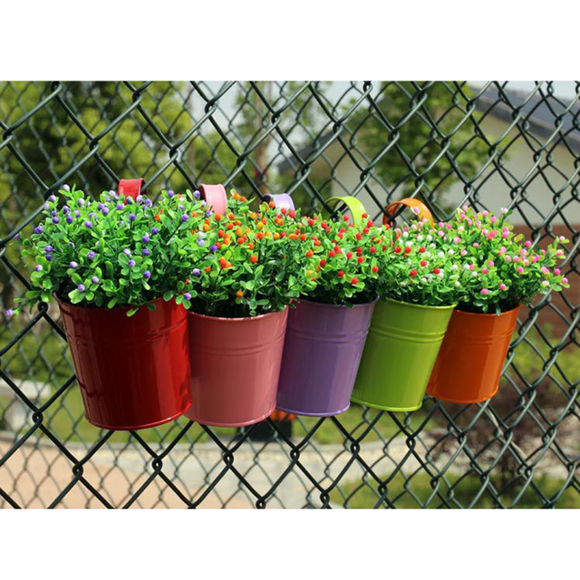 buy 1pc iron hanging flower pots plants