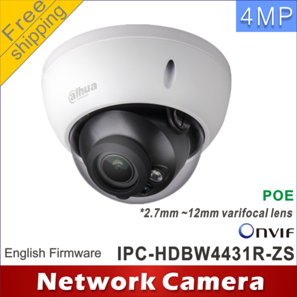 bilder für Freies verschiffen Dahua IPC-HDBW4431R-ZS 2,7mm ~ 12mm vario motorisierte objektiv netzwerk 4MP IR netzwerk ip-kamera Dome POE cctv-kamera
