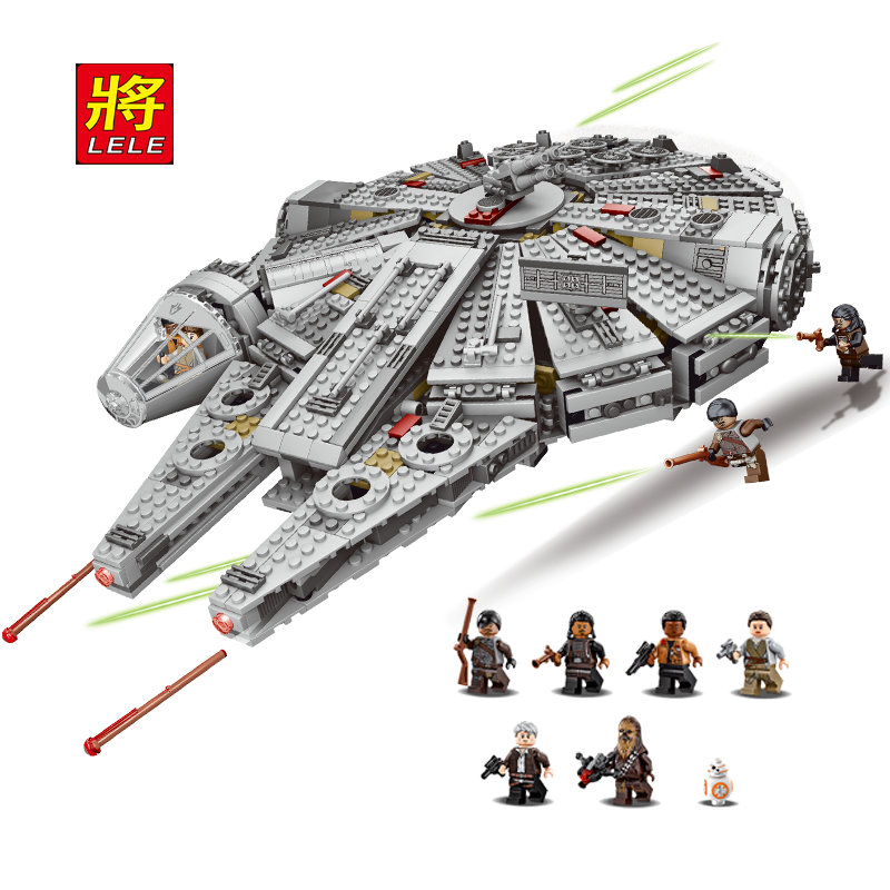 LELE Star Wars Educational Building Blocks Toys For Children Kids Gifts Minifigures Millennium Falcon Compatible With Legoe
