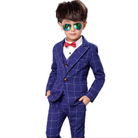 Teenager 5pcs/Set Boys Suits For Weddings Kids Prom Suits Formal Children Big Boys Sets Blazer Boys Clothes Set 170cm H260