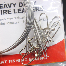 Hot Sale 10PCS/Bag 6″-18″ 20lb-30lb Heavy Duty Wire Leaders For Freshwater/Saltwater Fishing