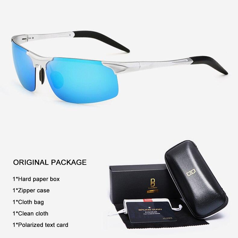 Bruno Dunn Driving polarized Men sunglasses 2020 sports High Quality UV400 Aluminum sun glasses for male oculos de sol masculino 19