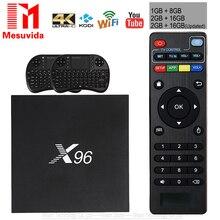 X96 TV Box Android 6.0 2GB 16GB Amlogic S905X Quad Core Android TV Set Top Box 2.4G WIFI HDMI 2.0 USB 2.0 PK X92 Smart TV Box
