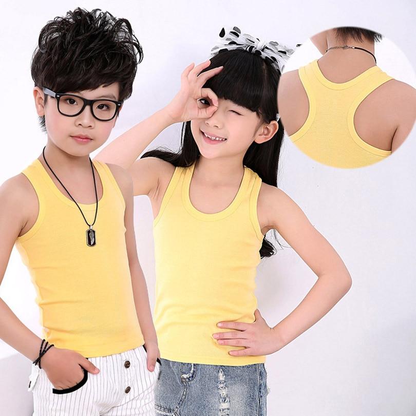 Children-Clothing-2017-Boy-Girl-Cotton-Vest-T-Shirt-Tops-Tee-Back-Kids-Toddler-Baby-90-160cm-Teenager-Underwear-8-Color-Elastic-1