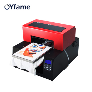 OYfame Automatic A3 Flatbed Printer Multicolor DTG T-Shirt Printer for t Shirt Clothes Inkjet Printing Machine