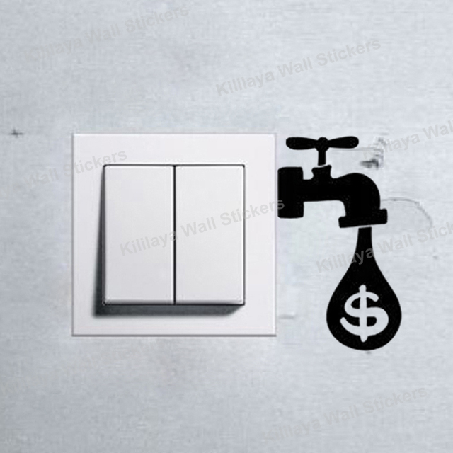 Eco Reminders Light Switch Black Wall Stickers Creative Wall Derals