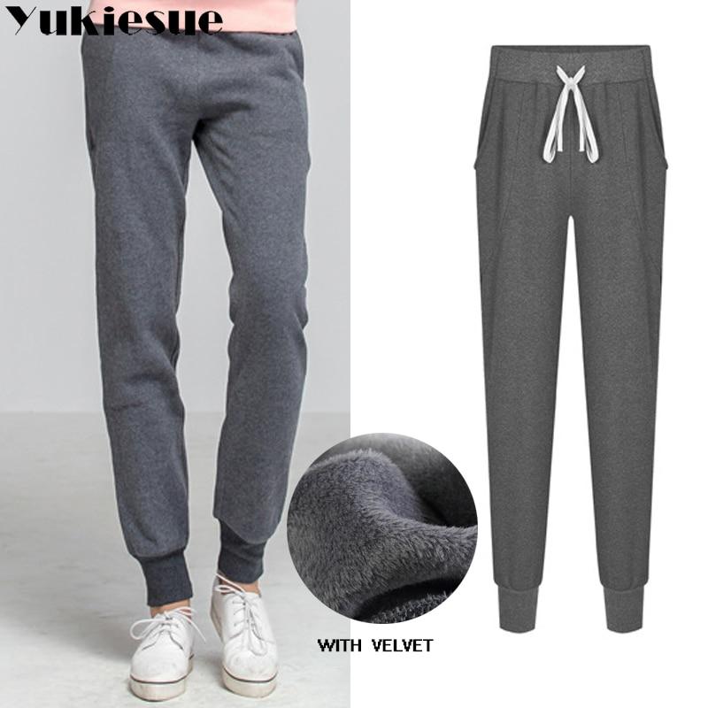 2018 Winter Warm Fleece  Trackpants Sweatpants Women's Pants Hot Sweat Pants Womens Loose Trousers Joggers Pants Plus Size