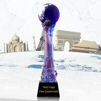 Новый дизайн наиболее королевской Популярные Super Star Кубок мира спортивные Молодежные футбольные победы глазури Колонка Marquis трофей, Кубок с
