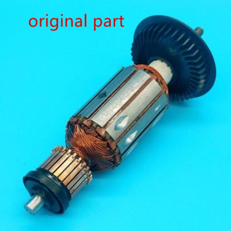 AC220-240V Original Rotor Armature for Bosch GWS6-100 GWS600 GWS660 GWS670 GFF22A EHS6-115 GEX150 GWS6-115 GWS6-115E GWS6-125 replacement electric angle grinder splint pressure plate platen for bosch gws6 100 7 100 tws6000 6600 high quality