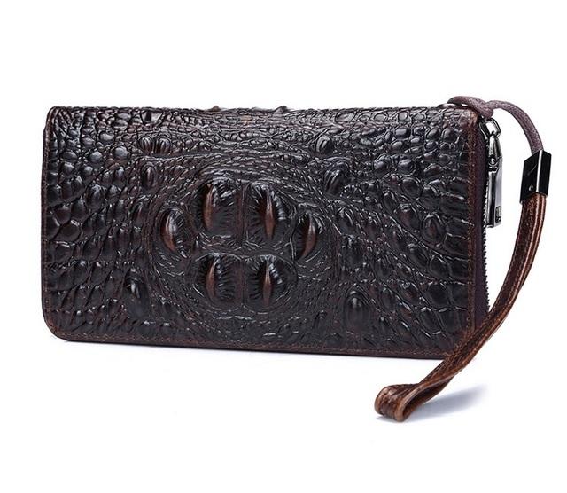 Crocodile Pattern Zipper Long Wallet