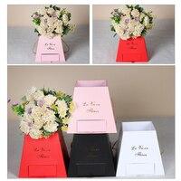 สร้างสรรค์ถังข้าวโพดคั่วบันไดลิ้นชักกล่องแบบพกพาแฟชั่นดอกไม้กล่องบรรจุภัณฑ์ดอกไม้กล่อ...