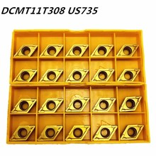 20 個超硬インサート DCMT11T308 DCMT32.52 US735 内部旋削工具 DCMT 11T308 エンドミルカッター旋盤ツール CNC ツール