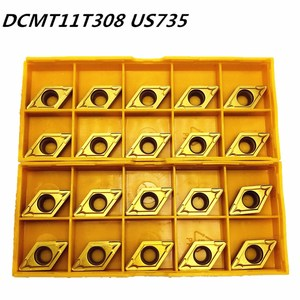 Image 1 - 20PCS Carbide insert DCMT11T308 DCMT32.52 US735 internal turning tool DCMT 11T308 end milling cutter lathe tool CNC tool