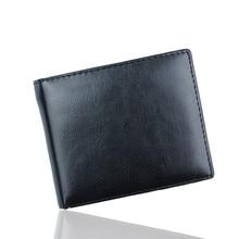 2017 Mest Populära Män Bifold Business Läder Plånbok ID Kreditkort Hållare Väskor Fickor Man Mode Plånböcker Proxy Inköp A8