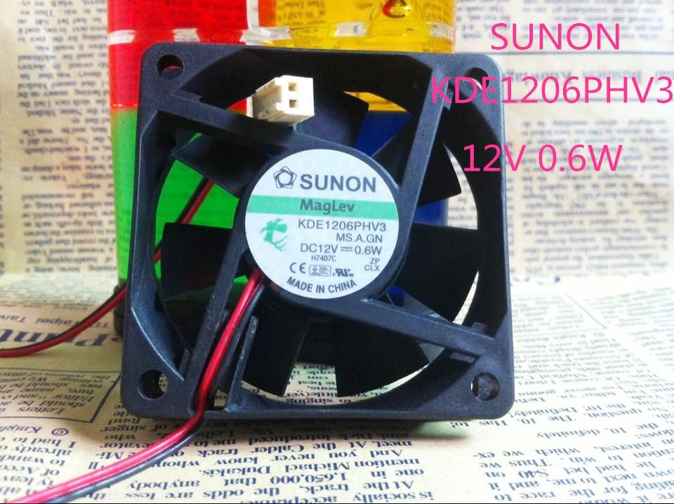 Оригинал SUNON KDE1206PHV3 MS. A. GN 12 В 0.6 Вт 6 см 6015 60*60*15 ММ вентилятор Охлаждения