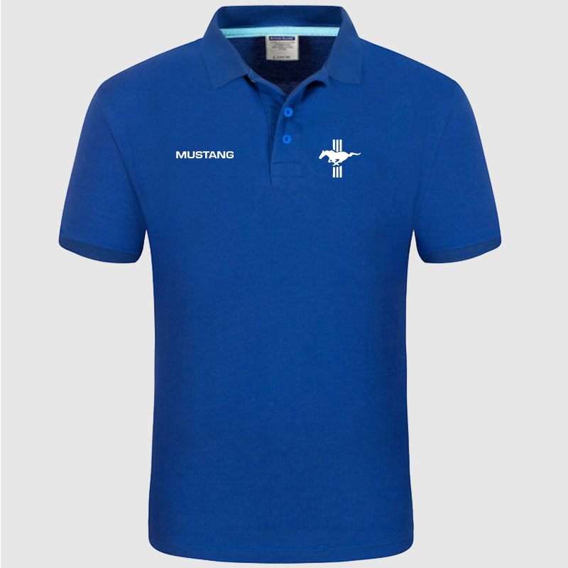 High quality MUSTANG logo   Polo   classic brand Men   Polo   Shirt Men Casual solid Short Sleeve cotton   polos