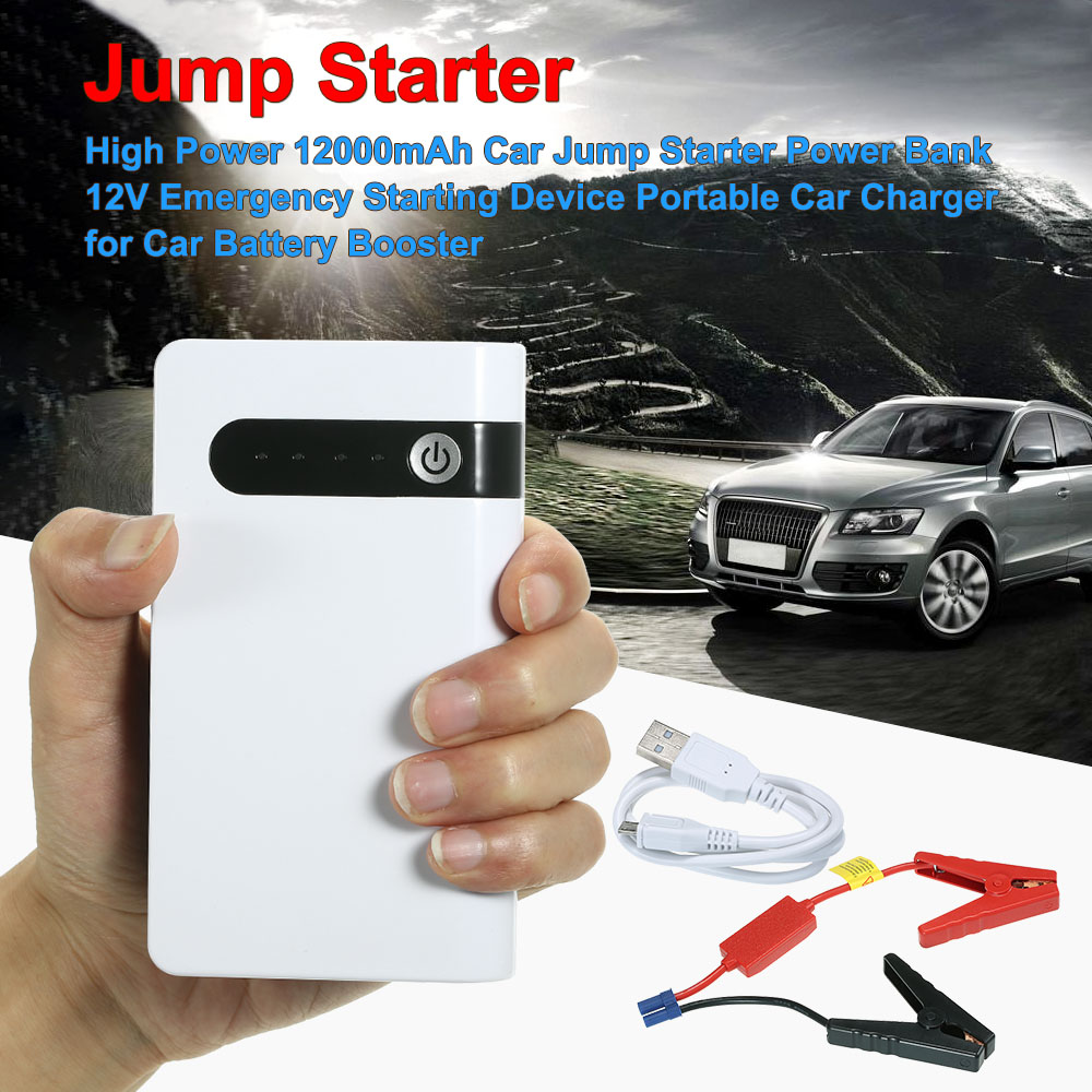 Car Jump Starter High Power 12000mAh Power Bank 12V Emergency Starting Device Portable Car Charger for Car Battery Booster цена