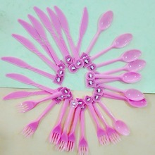 30pcs/bag plastic knife/fork/spoon Hellokitty theme birthday Accessories children's birthday party supplies/event decoration01