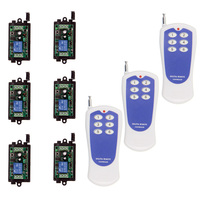 DC 9V 12V 24V 1 CH 1CH RF Wireless Remote Control LED Light Strips Motor Switch System,6CH Transmitter & Receiver,315 / 433 MHz