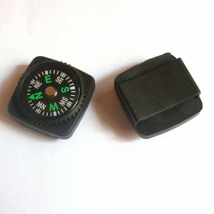 1 PC Mini Tombol Kompas Portable Handheld Olahraga Luar Ruangan Berkemah Perjalanan Hiking Berburu Survival Kompas
