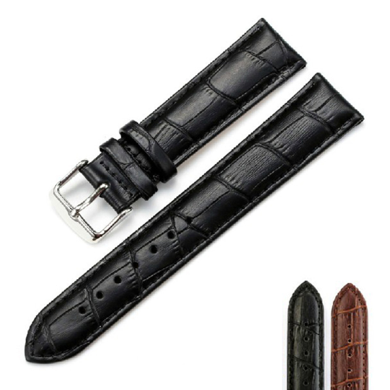 Excellent Quality New Brand Mens Luxury Universal Grain Leather 18mm/20mm/22mmWatch Strap Wristwatch Watch Band drop Shipping