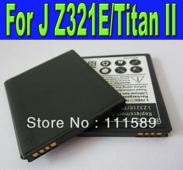 Wholesale 150pcs/lot 3.7v 1950mAh Replacement Battery for HTC J Titan II Z321e mobile phone High Quality