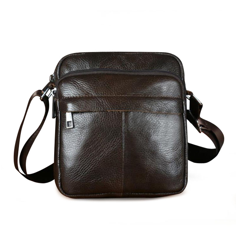 Genuine Leather Men Shoulder Bags New Fashion Hot Male Handbag Small Crossbody Messenger Bag Travel Bolsa Brown Men's Satchels xi yuan 2017 genuine leather bags men high quality messenger bags small travel dark brown crossbody shoulder bag for men gifts
