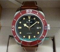 43 мм Парнис сапфировое стекло японский 21 Jewels Самовзводные двигаться Для мужчин t механические часы 5bar световой Для мужчин мужские часы 417
