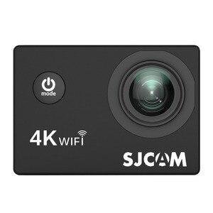 """Image 2 - Sjcam mini capacete sj4000 air, câmera de ação de 4k e 30fps, chipset allwinner 1080p 60fps, wifi, esportivo, dv, 2.0 """"dv câmera esportiva à prova d água"""