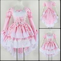 Role Playing Angel Love Princess Dress Cute Maid Service Black Pink Maid Costume Anime Costume Swallowtail Dress Ladies Dress