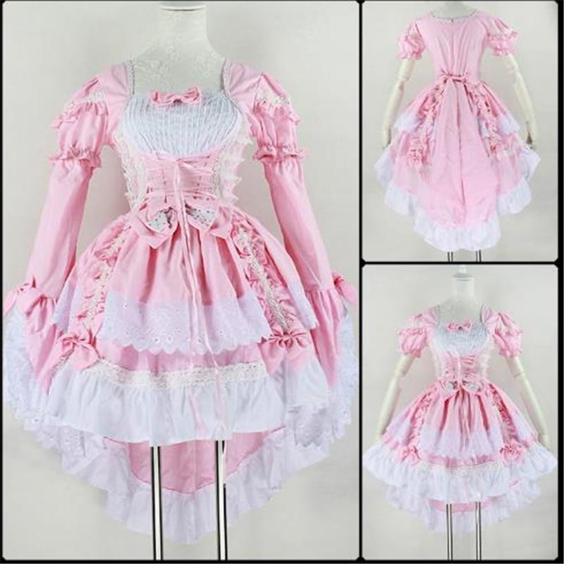 US $28 65 18% OFF|Peran Bermain Malaikat Cinta Putri Gaun Lucu Maid Layanan  Hitam Merah Muda Maid Kostum Anime Kostum Swallowtail Gaun Wanita Gaun-in