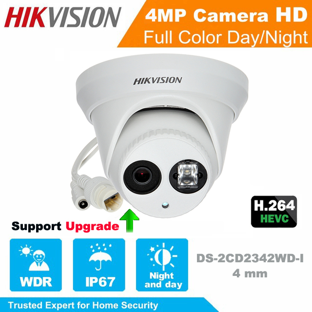 Hikvision original Mini Dome IP Camera 4MP DS-2CD1341-I waterproof Network Camera CCTV camera POE IP67 Support Upgrade hikvision hik h 265 original international surveillance camera ds 2cd2185fwd i 8mp dome cctv ip camera ip67 ik10 poe 1080p onvif