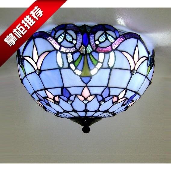 Taobao big hot blue bedroom lighting ceiling lamp European balcony study dining room lamp