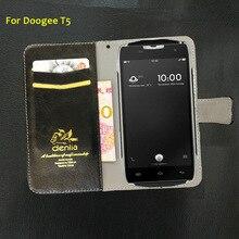 Топ NEW! Doogee T5 чехол 5 цветов Ультра-тонкий роскошный кожаный чехол эксклюзивный чехол телефона держатель кредитной карты кошелек + отслеживания
