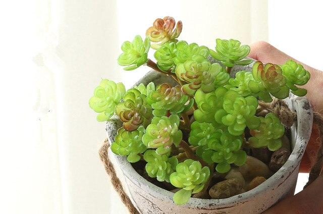 Искусственные Кактус полнота Лотос Сочные растения microlandschaft декоративный цветок дома ваза украшения