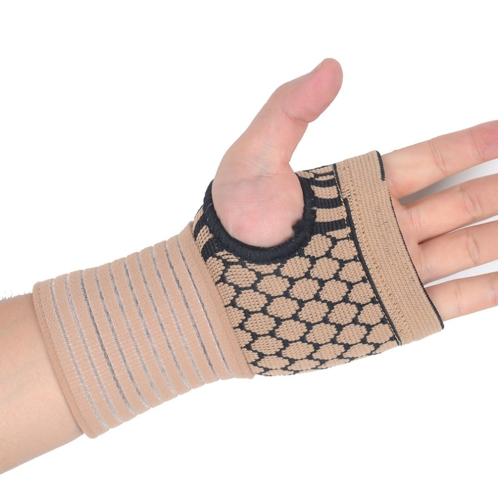 Expressive 1pcs Elastic Terylene Latex Material Basketball Volleyball Palm Hand Bandage Glove We Have Won Praise From Customers Office & School Supplies
